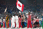 Jean Labonté carries the Canadian flag into BC Place during the opening ceremony of the 2010 Paralympic Games in Vancouver.