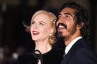 LONDON, UK. October 12, 2016: Nicole Kidman &amp; Dev Patel at the London Film Festival 2016 premiere of &quot;Lion&quot; at the Odeon Leicester Square, London.<br /> Picture: Steve Vas/Featureflash/SilverHub 0208 004 5359/ 07711 972644 Editors@silverhubmedia.com