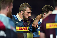 Chris Robshaw of Harlequins looks dejected after the match. Aviva Premiership match, between Harlequins and Exeter Chiefs on April 14, 2017 at the Twickenham Stoop in London, England. Photo by: Patrick Khachfe / JMP