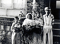 Iran 1977 In Bokan, from left to right, Lokman, the mother , Soheila Ghassemlou and Farouk Iran 1977 A Bokan, de gauche a droite, Lokman, leur mere, Soheila Ghassemlou et Farouk