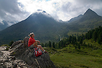 Antholz,  South Tyrol, June 2007. Life on the Staller Sattel. The Valley of Antholz is surrounded by mountains of over 3000 meters. South Tyrol used to be part of Austria until it became part of Italy after WWI. Photo by Frits Meyst/Adenture4ever.com