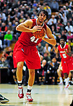 12 December 2010: Marist College Red Foxes' forward Korey Bauer, a Senior from Whitehall, PA, in action against the University of Vermont Catamounts at Patrick Gymnasium in Burlington, Vermont. The Catamounts (7-2) defeated the Red Foxes 75-67 notching their 7th win of the season, and their best start since the '63-'64 season. Mandatory Credit: Ed Wolfstein Photo