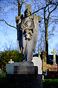 London, UK. 11.01.2015. Angel on a grave, Highgate East Cemetery. Photograph © Jane Hobson.