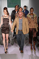 Fashion designer Danilo Gabrielli walks the runway with models, at the close of his Danilo Gabrielli Spring Summer 2012 fashion show, at Nolcha Fashion Week Spring 2012.