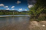 Cowichan lake close to Honeymoon Bay.Vancouver Island, British Columbia, Canada.
