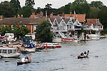 Swan Upping. The River Thames. Henley on Thames, Oxfordshire  England 2007. The Vintners and Dyers Company  skiffs.
