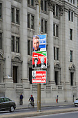 2008 Federal election party posters along Rene-Levesque blvd in downtown Montreal