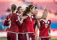 Frisco, TX - February 10, 2016: Mexico defeated Puerto Rico  5-0 during the opening game of the group stage at the CONCACAF Women's Olympic Qualifying Tournament in Toyota Stadium.