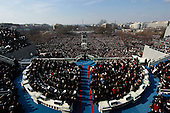 Washington, DC - January 20, 2009 -- United States President Barack Obama gives his inaugural address during his inauguration as the 44th President of the United States of America on the West Front of the Capitol Tuesday, January 20, 2009 in Washington, DC. Obama becomes the first African-American to be elected to the office of President in the history of the United States. .Credit: Win McNamee - Pool via CNP