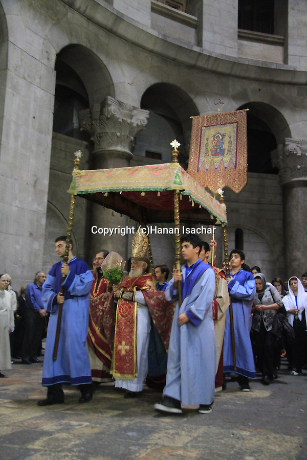 Israel, Jerusalem, the Armenian Orthodox Feast of the Discovery of the Holy Cross at the Church of the Holy Sepulchre