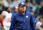 New York Giants head coach Tom Coughlin at CenturyLink Field in Seattle, Washington on November 9, 2014. The Seahawks  beat the Giants 38-17. ©2014. Jim Bryant Photo. All rights Reserved.