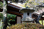 Photo shows a lantern in the Japanese garden inside the grounds of Jomyoji temple in Kamakura, Japan on 24 Jan. 2012. Photographer: Robert Gilhooly