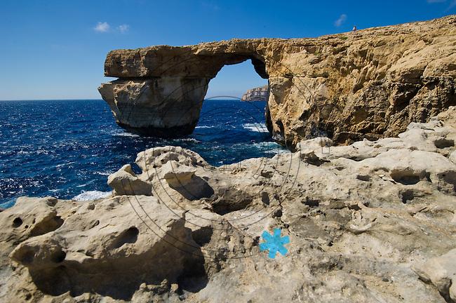 Das beeindruckende Azure Window auf der Insel Gozo nahe Dwejra - das Naturmonument st&uuml;rzte w&auml;hrend einer Sturmflut am 08.03.2017 ein. (Republik Malta).   Foto: aif / Norman Rembarz<br /> <br /> Jegliche kommerzielle wie redaktionelle Nutzung ist honorar- und mehrwertsteuerpflichtig! Pers&ouml;nlichkeitsrechte sind zu wahren. Es wird keine Haftung &uuml;bernommen bei Verletzung von Rechten Dritter. Autoren-Nennung gem. &sect;13 UrhGes. wird verlangt. Weitergabe an Dritte nur nach  vorheriger Absprache. Online-Nutzung ist separat kostenpflichtig.