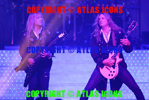SUNRISE FL - NOVEMBER 30 : Chris Caffery and Joel Hoekstra of Trans Siberian Orchestra perform at The BB&T Center on November 30, 2013 in Sunrise, Florida. : Credit Larry Marano (C) 2013