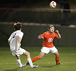 1 November 2006: Clemson's Danny Poe (15). Virginia defeated Clemson 2-0 at the Maryland Soccerplex in Germantown, Maryland in an Atlantic Coast Conference college soccer tournament quarterfinal game.