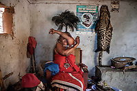Witchdoctor Adelaide Jim (46). In 1982 she became possessed by the spirit of her grandfather Asikuru, who died in Zimbabwe after eating the 'rising from the dead' magical medicament. She claims that Asikuru's body mysteriously disappeared from the morgue.