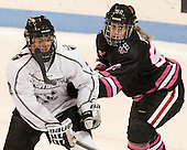 Maggie Pendleton (PC - 2), Lucie Povova (NU - 92) - The Northeastern University Huskies defeated the visiting Providence College Friars 8-7 on Sunday, January 20, 2013, at Matthews Arena in Boston, Massachusetts.