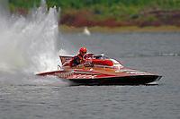 "GP-1001 ""Miss Dinomytes"" 1986 Grand Prix class Lauterbach hydroplane.Madison Regatta, Madison Indiana July 3, 2005.Photo Credit: ©F.Peirce Williams 2005"
