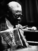 Blind John Davis 1978. Photo F. Scott Grant