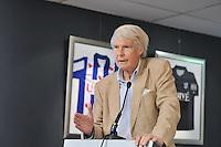 VOETBAL: ABE LENSTRA STADION: HEERENVEEN: 27-08-2013, Presentatie nieuw Stichtingsbestuur, Lense Koopmans (Lid onderzoekscommissie), ©foto Martin de Jong