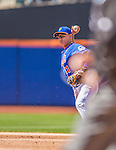 21 April 2013: New York Mets infielder Ruben Tejada in action against the Washington Nationals at Citi Field in Flushing, NY. The Mets shut out the visiting Nationals 2-0, taking the rubber match of their 3-game weekend series. Mandatory Credit: Ed Wolfstein Photo *** RAW (NEF) Image File Available ***