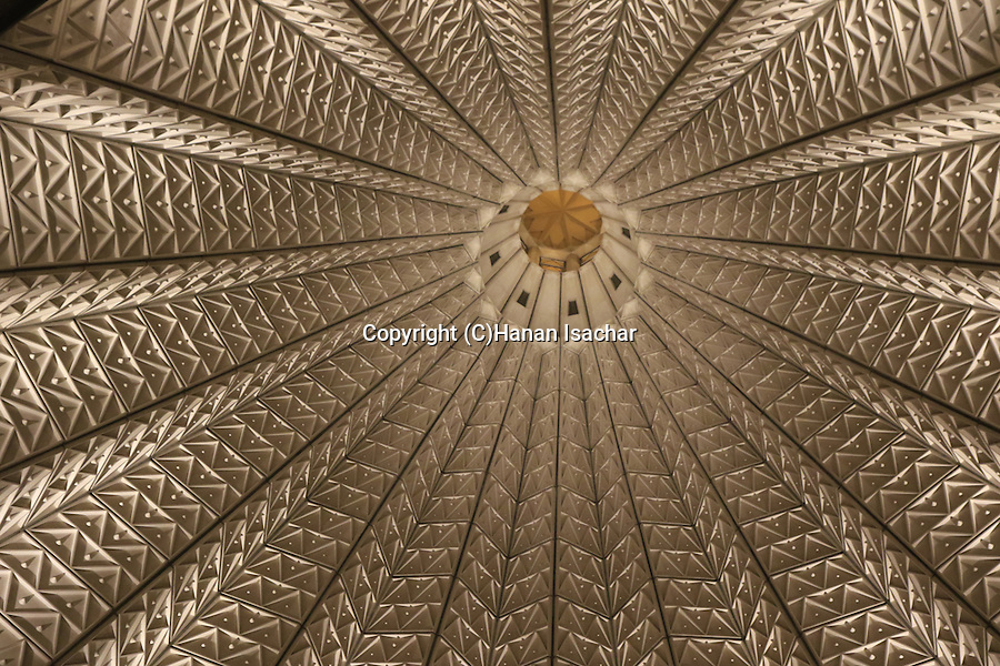 Israel, Galilee, the inside of the dome of the Church of the Annunciation in Nazareth