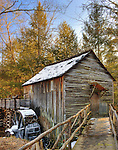Cable Mill in Cades Cove in winter.