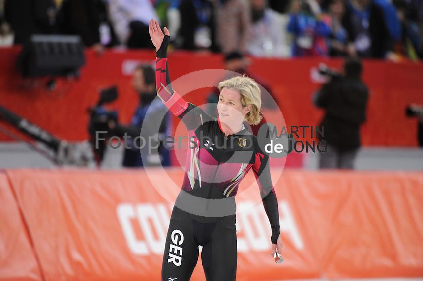 OLYMPICS: SOCHI: Adler Arena, 19-02-2014, Ladies' 5000m, Claudia Pechstein (GER), ©photo Martin de Jong