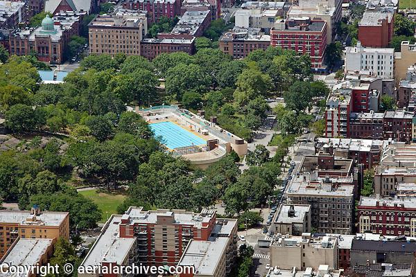 aerial photograph Marcus Garvey Park, Harlem, Manhattan, New York City