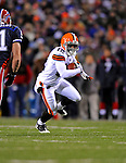 17 November 2008:  Cleveland Browns' wide receiver Syndric Steptoe gains yardage against the Buffalo Bills at Ralph Wilson Stadium in Orchard Park, NY. The Browns defeated the Bills 29-27 in the Monday Night AFC matchup. *** Editorial Sales Only ****..Mandatory Photo Credit: Ed Wolfstein Photo