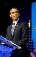 Barack Obama's first visit to Belgium, at a press conference during the EU-US Summit - Belgium