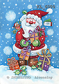 Christmas - Santas and snowmen paintings
