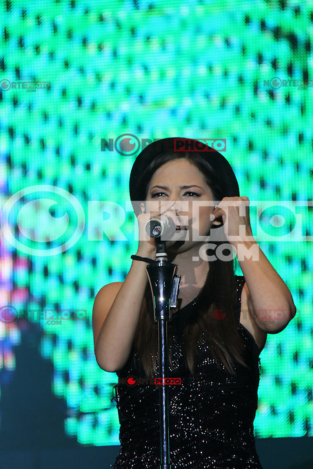 Paty Cantu durante su concierto en  Valeria de la Feria Internacional de Durango 2012..Durando.4/jul/2012.<br />