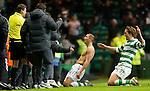 Celtic v St Johnstone....26.12.10  .Cha Du Ri celebrates his goal;.Picture by Graeme Hart..Copyright Perthshire Picture Agency.Tel: 01738 623350  Mobile: 07990 594431
