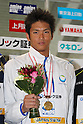 Junya Koga, .FEBRUARY 11, 2012 - Swimming : .The 53rd Japan Swimming Championships (25m) .Men's 50m Backstroke Victory Ceremony .at Tatsumi International Swimming Pool, Tokyo, Japan. .(Photo by YUTAKA/AFLO SPORT) [1040]
