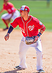 28 February 2016: Washington Nationals infielder Matt Skole in action during an inter-squad pre-season Spring Training game at Space Coast Stadium in Viera, Florida. Mandatory Credit: Ed Wolfstein Photo *** RAW (NEF) Image File Available ***