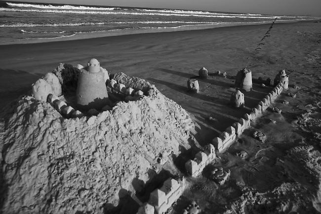 Sandcastle on the beach in Fernandina Beach, Fla. July 23, 2010.