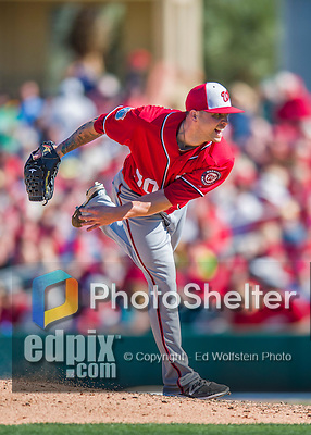 6 March 2016: Washington Nationals pitcher Aaron Laffey on the mound during a Spring Training pre-season game against the St. Louis Cardinals at Roger Dean Stadium in Jupiter, Florida. The Nationals defeated the Cardinals 5-2 in Grapefruit League play. Mandatory Credit: Ed Wolfstein Photo *** RAW (NEF) Image File Available ***