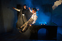 London, UK. 24.10.2014. THE GRAND-GUIGNOL, by Carl Grose, opens at Southwark Playhouse. Picture shows:  Andy Williams (as Edgar Allan Poe) and Jonathan Broadbent (De Lorde). Photograph © Jane Hobson.