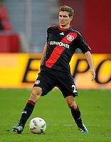 FUSSBALL   1. BUNDESLIGA   SAISON 2011/2012    10. SPIELTAG Bayer 04 Leverkusen - FC Schalke 04                        23.10.2011 Daniel SCHWAAB (Bayer 04 Leverkusen) Einzelaktion am Ball