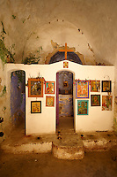 Interior of Saint Nikolaos Church, Paliachora,  Aegina, Greek Saronic Islands