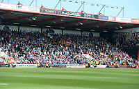 The away end at the Vitality stadium with the Burnley fans <br /> <br /> Photographer Ian Cook/CameraSport<br /> <br /> The Premier League - Bournemouth v Burnley - Saturday 13th May 2017 - Vitality Stadium - Bournemouth<br /> <br /> World Copyright &copy; 2017 CameraSport. All rights reserved. 43 Linden Ave. Countesthorpe. Leicester. England. LE8 5PG - Tel: +44 (0) 116 277 4147 - admin@camerasport.com - www.camerasport.com
