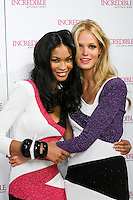 Chanel Iman and Erin Heatherton during the &quot;Incredible by Victoria's Secret&quot; launch at the Victoria Secret SOHO Store, August 10, 2010.