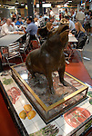 Reading Terminal Market, pig sculpture..Philadelphia, Pennsylvania, PA USA.  Photo copyright Lee Foster, 510-549-2202, lee@fostertravel.com, www.fostertravel.com. Photo 232-30308