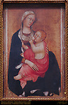 Madonna of Humility, Madonna dell'Umilta, Paolo di Giovanni Fei c. 1385, Piccolomini Altar, Cathedral of Siena, Santa Maria Assunta, Siena, Italy