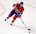 9 January 2010: Montreal Canadiens' defenseman Andrei Markov in action against the New Jersey Devils at the Bell Centre in Montreal, Quebec, Canada. The Devils edged out the Canadiens 2-1 in overtime. Mandatory Credit: Ed Wolfstein Photo