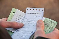 Train tickets for the Algoma Central Railway during a wilderness canoe trip.