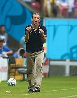 USA Coach Juergen Kilnsmann gestures on the touchline