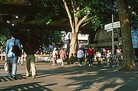 London:  Thameside Walk #3A.  South Bank near Waterloo Bridge and National Film Theatre.  Photo '05.