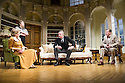 London, UK. 26.03.2014. Theatre Royal Bath Production's West End transfer of RELATIVE VALUES, by Noel Coward, opens at the Harold Pinter Theatre. Picture shows: Patricia Hodge (Felicity), Caroline Quentin (Moxie), Rory Bremner (Crestwell) and Steven Pacey (Peter). Photograph © Jane Hobson.